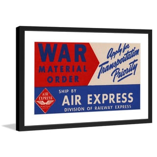 "Marmont Hill - ""Air Express"" Licensed Smithsonian Framed Art Print"