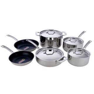 MIUStainless Steel 10-piece 5-ply La Cuisine Cookware Set