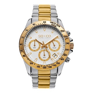 SO&CO New York Men's Monticello Quartz Two-tone Stainless Steel Watch