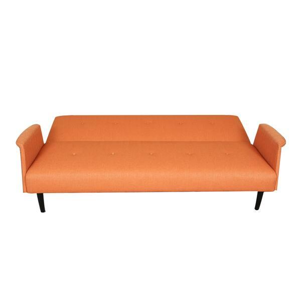 separation shoes 83ebc ae0fb Shop Sitswell Naomi Orange Futon Sofa Sleeper Bed - Free ...