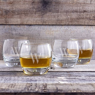 Link to Set of 4 Personalized 10.75-ounce Heavy-base Whiskey Glasses Similar Items in Glasses & Barware