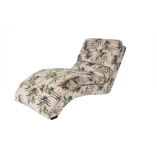 MJFI Puff The Magic Chaise Botanical Marijuana Print Lounge Chair
