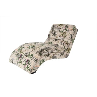 MJFI Puff The Magic Chaise Botanical Marijuana Print Lounge Chair