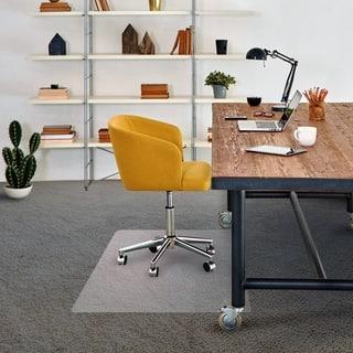 "FloorTex Vinyl Chair mat for Low Pile Carpet - Rectangular Size 48"" x 60"""