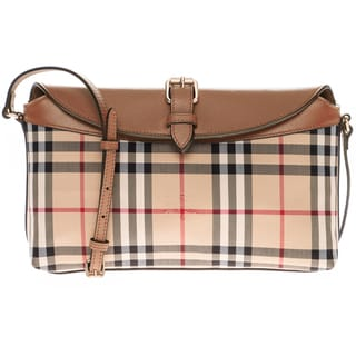 5b683c5c1301 Top Product Reviews for Burberry Horseferry Check Small Leah Clutch ...