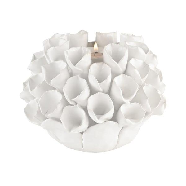 Dimond Home White Ceramic Bud Candle Holder