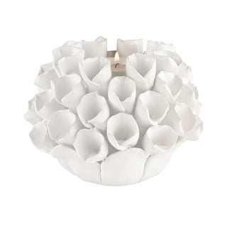 Dimond Home White Ceramic Bud Candle Holder