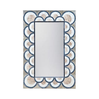 Dimond Home Art Deco Capiz Shell Mosaic Wall Mirror - Blue/Brown - N/A