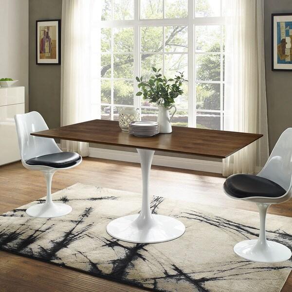 Shop Lippa 60-inch Walnut Finish Rectangular Dining Table