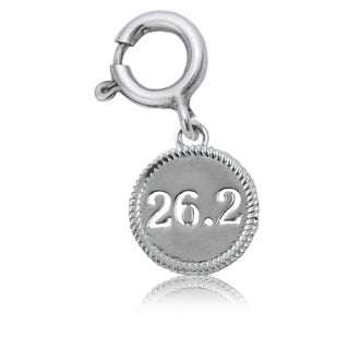 26.2 Marathon Sterling Silver Charm