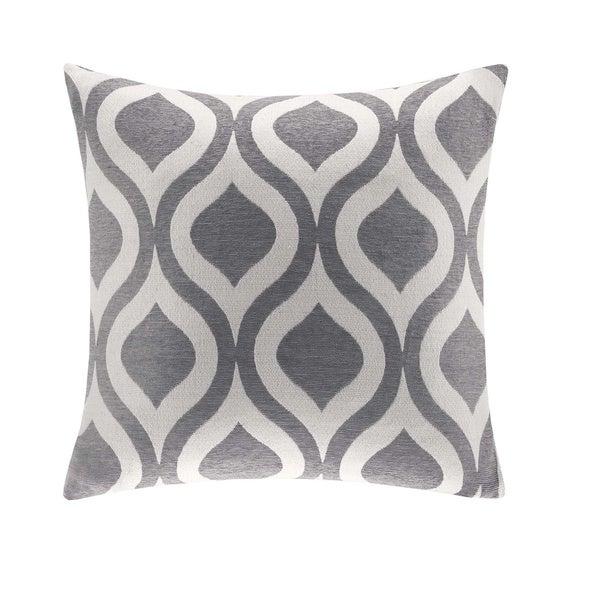 Madison Park Bergamo Chenille 20-inch Feather Down Square Pillow