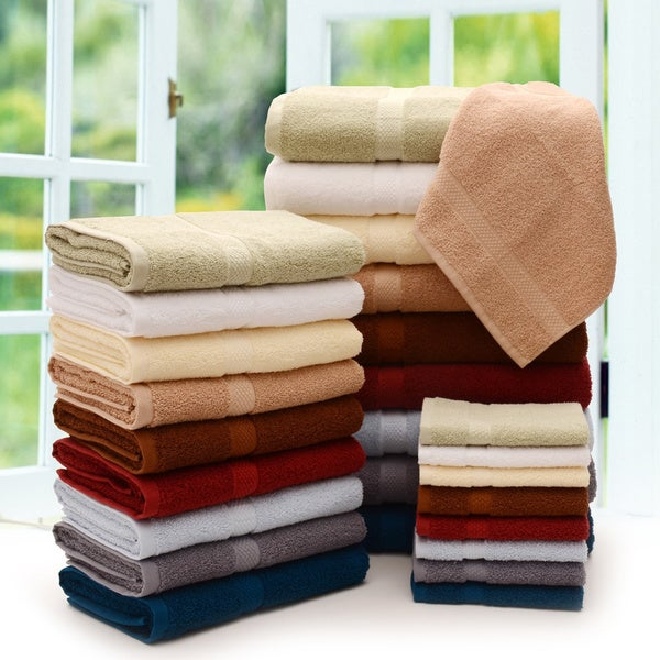 Cheer Collection 3-Piece Luxurious Towel Set