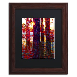 Mandy Budan 'Carnelian Morning' Black Matte, Wood Framed Wall Art