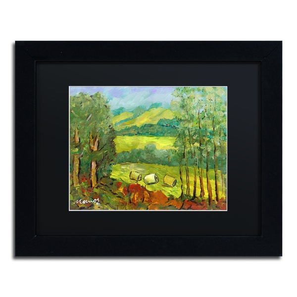 Manor Shadian 'Balds in the Field' Black Matte, Black Framed Wall Art