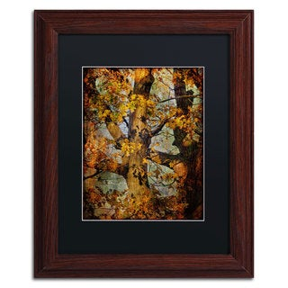 Lois Bryan 'Autumn Oaks in Dance Mode' Black Matte, Wood Framed Wall Art