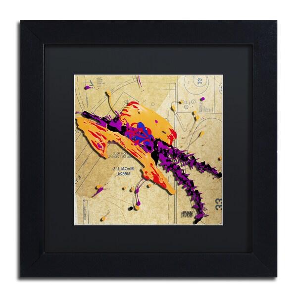 Roderick Stevens \'Orange Hat Purple Feathers\' Black Matte, Black ...