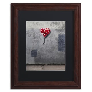 Banksy 'NYC Love' Black Matte, Wood Framed Wall Art