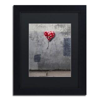 Banksy 'NYC Love' Black Matte, Black Framed Wall Art