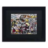 Dan Monteavaro 'Mimosas' Black Matte, Black Framed Wall Art