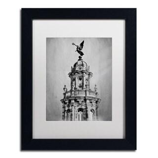 Erik Brede 'Gran Teatro de la Habana' White Matte, Black Framed Wall Art