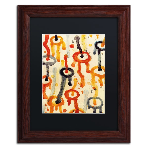 Amy Vangsgard 'Circle Encounters 9' Black Matte, Wood Framed Wall Art