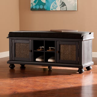 Harper Blvd Pinnacle Embossed-Door Storage Bench
