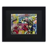 Dan Monteavaro 'Fearless Heartache' Black Matte, Black Framed Wall Art