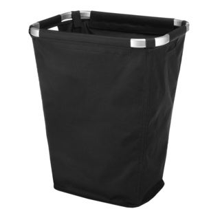Whitmor 6309-4673-BLACK Aluminum Frame Hamper