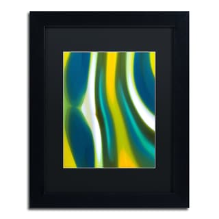 Amy Vangsgard 'Fury Stream 1' Black Matte, Black Framed Wall Art