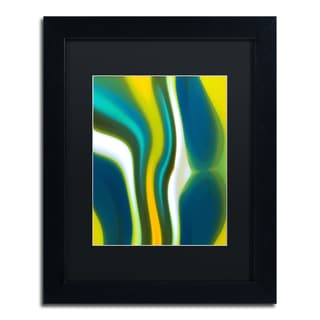 Amy Vangsgard 'Fury Stream 2' Black Matte, Black Framed Wall Art
