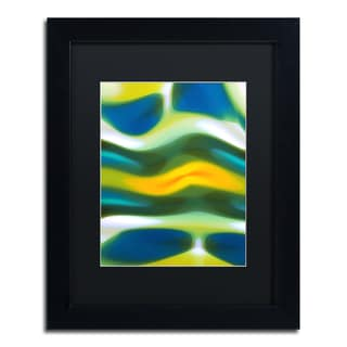 Amy Vangsgard 'Fury Stream 3' Black Matte, Black Framed Wall Art