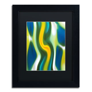 Amy Vangsgard 'Fury Stream 4' Black Matte, Black Framed Wall Art