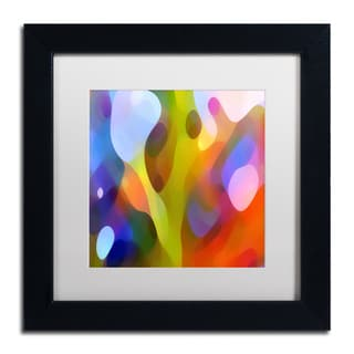 Amy Vangsgard 'Dappled Light 15' White Matte, Black Framed Wall Art