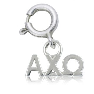 Alpha Chi Omega Sterling Silver Charm