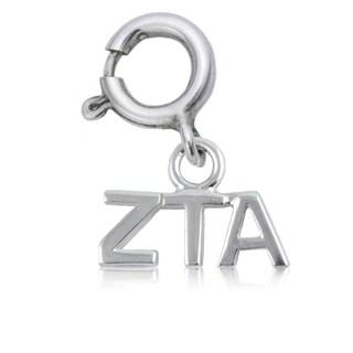 Zeta Tau Alpha Sterling Silver Charm
