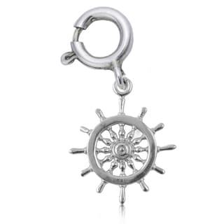 Sterling Silver Helm Charm