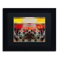 Andrea 'Sunset' Black Matte, Black Framed Wall Art