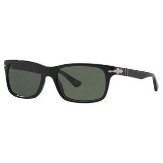 Persol Men's PO3048S Plastic Rectangle Sunglasses