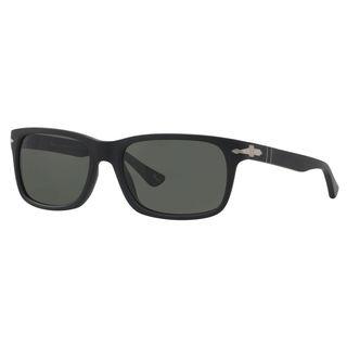 Persol Men's PO3048S Plastic Rectangle Polarized Sunglasses