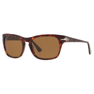 Persol Men's PO3072S Plastic Square Polarized Sunglasses