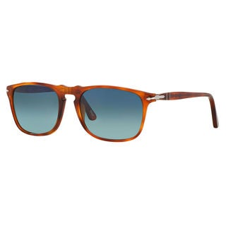 Persol Men's PO3059S Plastic Square Polarized Sunglasses