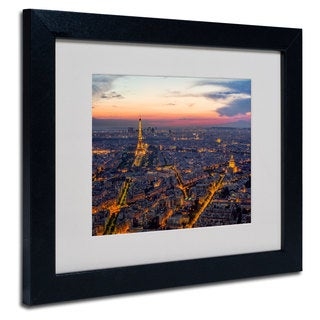 Mathieu Rivrin 'From the Roofs of Paris' White Matte, Black Framed Wall Art