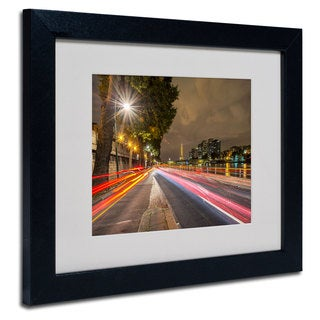 Mathieu Rivrin 'Here Is Paris' White Matte, Black Framed Wall Art