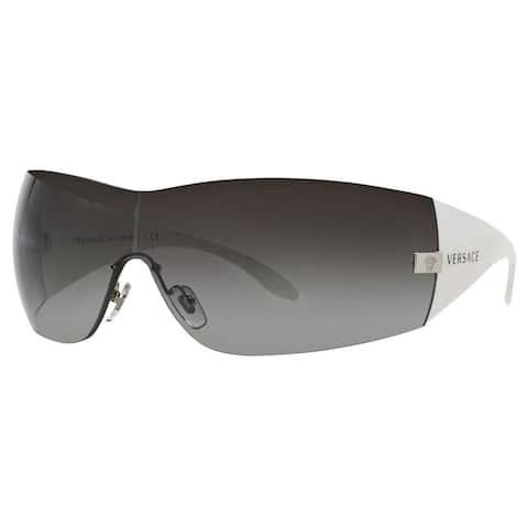 Versace Women's VE2054 Plastic Square Sunglasses - Silver