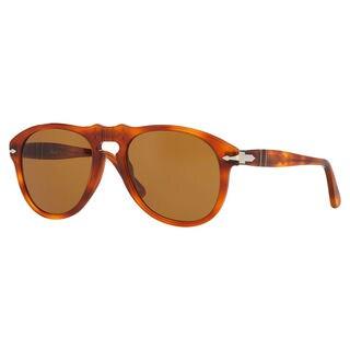 Persol Men's PO0649 Plastic Pilot Sunglasses