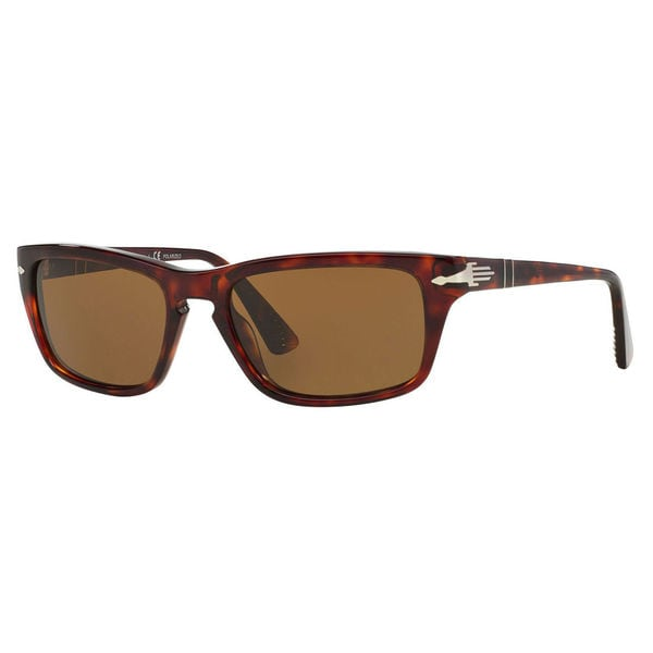 8519a9ea045 Persol PO3074S Plastic Rectangle Polarized Sunglasses - Tortoise - Large