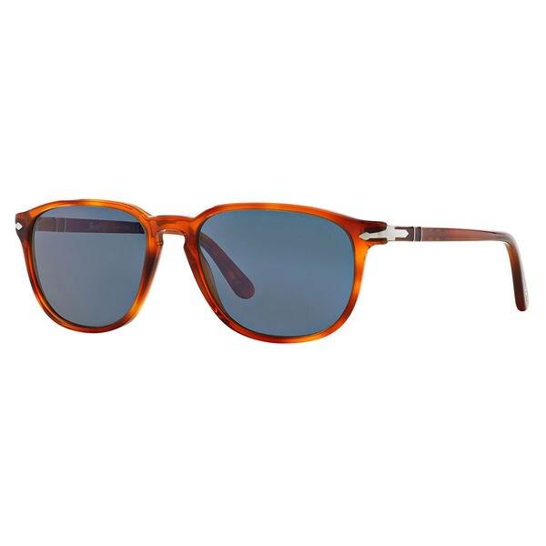Persol Men's PO3019S Plastic Square Sunglasses - Tortoise - Large