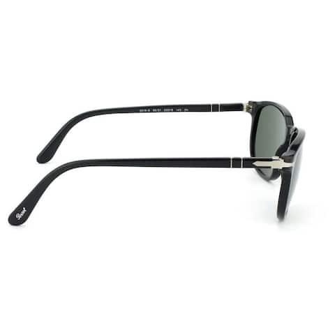 Persol Men's PO3019S Plastic Square Sunglasses - Black - Large