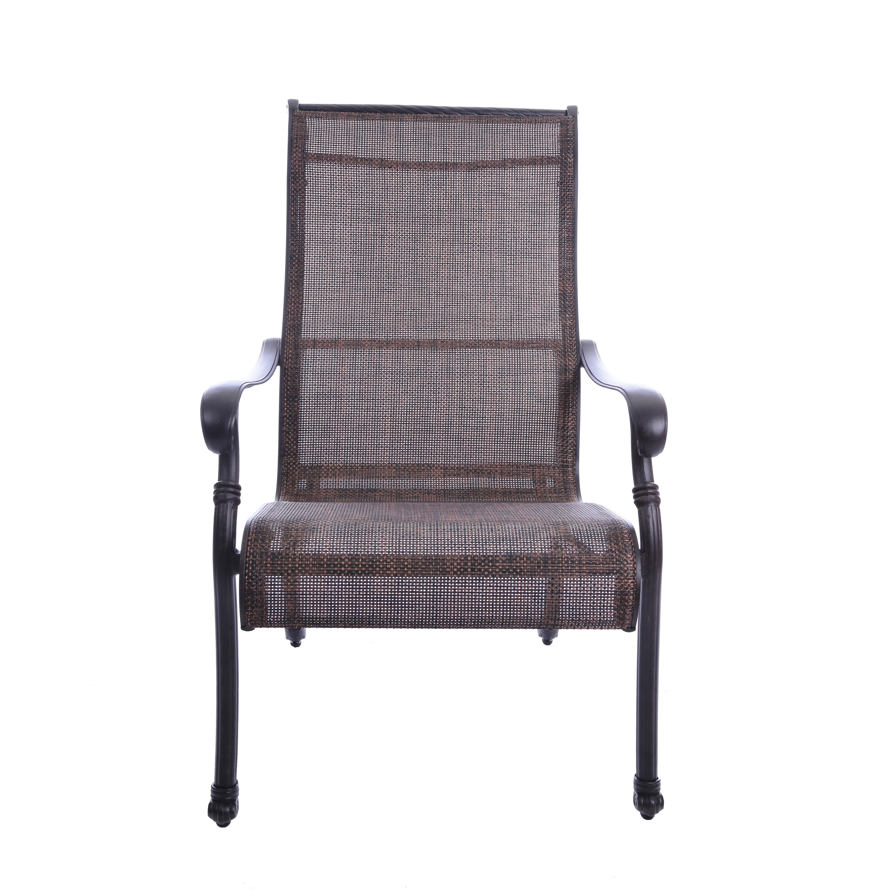 Gathercraft Casa Grande Bronze Outdoor Cast Aluminum Sling Dining Chair Set Of 2 Free Shipping Today 10456556