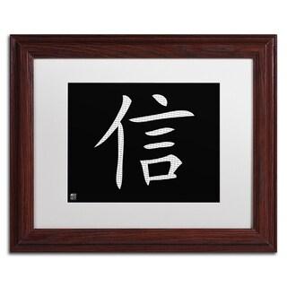 'Faith - Horizontal Black' White Matte, Wood Framed Wall Art